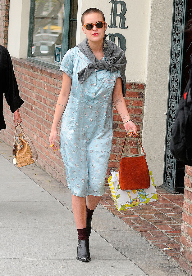 Tallulah Belle Willis is seen leaving Il Pastaio Restaurant on January 29, 2015 in Los Angeles, California.