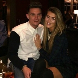 Gary Beadle and girlfriend Lillie Lexie Gregg skiing, Courchevel 31 January