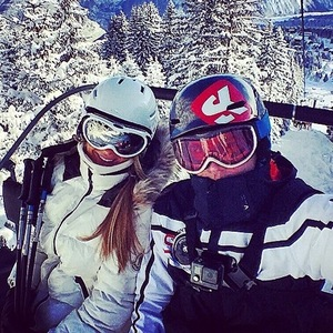 Gary Beadle and girlfriend Lillie Lexie Gregg skiing in Courchevel 31 January