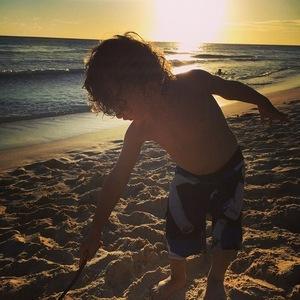 Jodi Albert shares photo of son Koa on holiday 28 January