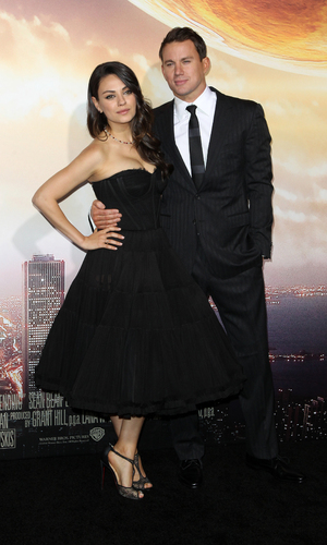 Mila Kunis and Channing Tatum at Los Angeles premiere of 'Jupiter Ascending' at TCL Chinese Theatre, LA 2 February
