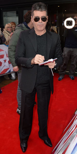 Simon Cowell attends Britain's got Talent auditions at The Birmingham Hippodrome 5 February