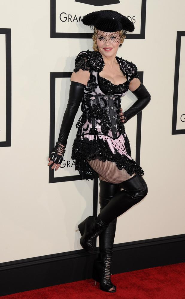 Madonna, 57th Annual Grammy Awards, Arrivals, Los Angeles, America - 08 Feb 2015
