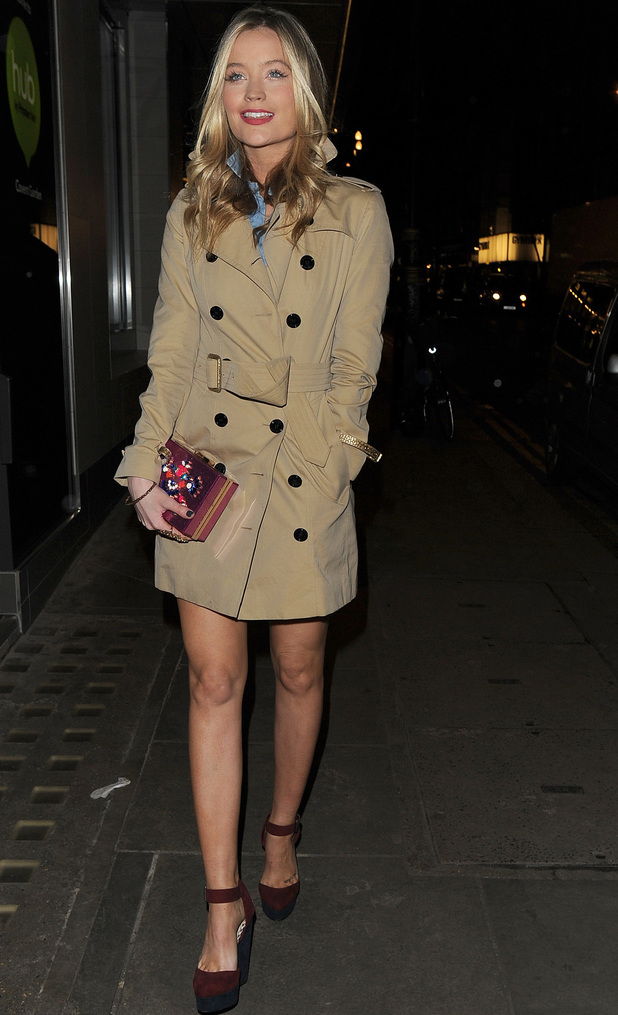 Laura Whitmore  at private dinner at Library Club, hosted by skincare brand Kiehl's, London. 5/2/15