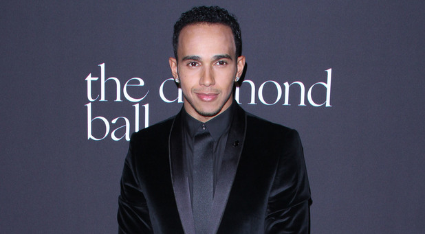 Lewis Hamilton attends Rihanna's First Annual Diamond Ball Benefitting the Clara Lionel Foundation held at The Vineyard Beverly Hills 12 December 2014