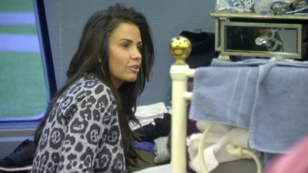 CBB: Katie Price talks to Cami Li in bedroom, 1 February 2015
