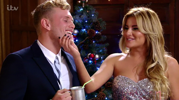 TOWIE's Tommy Mallet and Georgia Kousoulou in Christmas special - December 2014.
