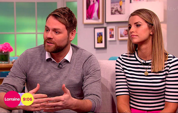 Brian McFadden and wife Vogue Williams appear on ITV's Lorraine, 2 February 2015
