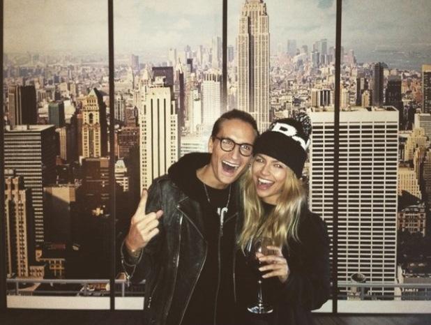 Oliver Proudlock enjoys New York break with girlfriend Emma Louise Connolly - 1 February 2015.