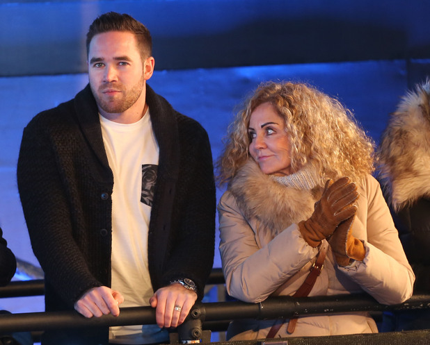 Kieran Hayler and Katie Price's mum Amy at the CBB final - 6 FEB 2015