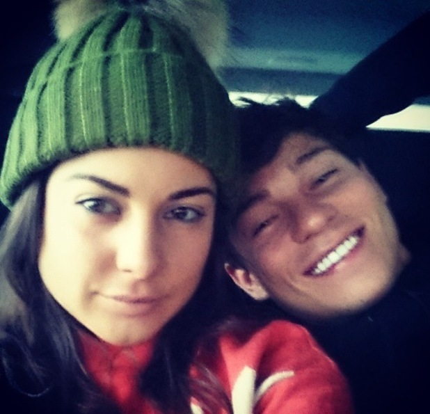 "Louise Thompson and Joey Essex share ""tired smiles"" after The Jump 5 February"