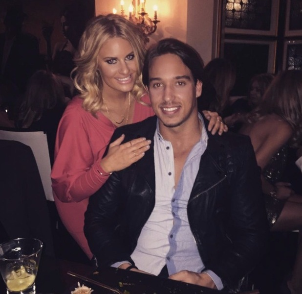 Danielle Armstrong and James Lock at Sheesh Chigwell, 5 February 2015