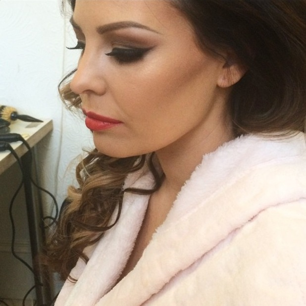 TOWIE's Jessica Wright shows off a make-up look created by Krystal Dawn - 30 January 2015