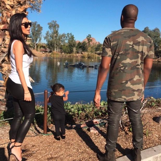 Kim Kardashian and Kanye West take North to the zoo - 3 Feb 2015