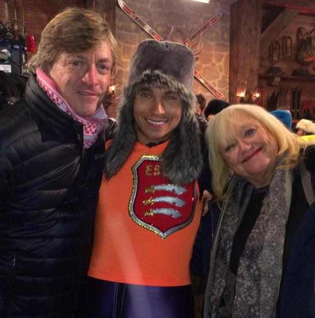 Joey Essex poses with Richard and Judy backstage on The Jump - 4 January 2015.