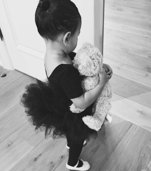 Kim Kardashian shares photos of daughter North West dresses as a ballerina - 4 February 2015.
