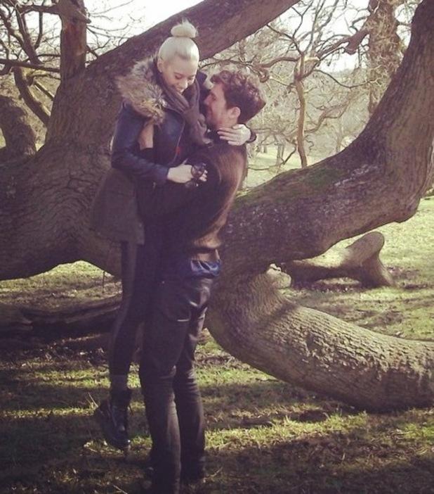 Kimberly Wyatt and husband Max Rogers 6 February