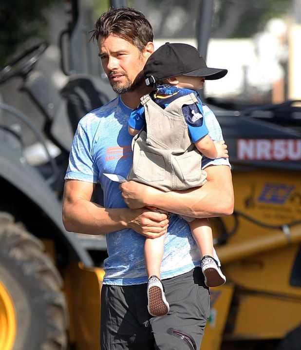 Josh Duhamel out and about with son Axl in Los Angeles, America - 03 Feb 2015.