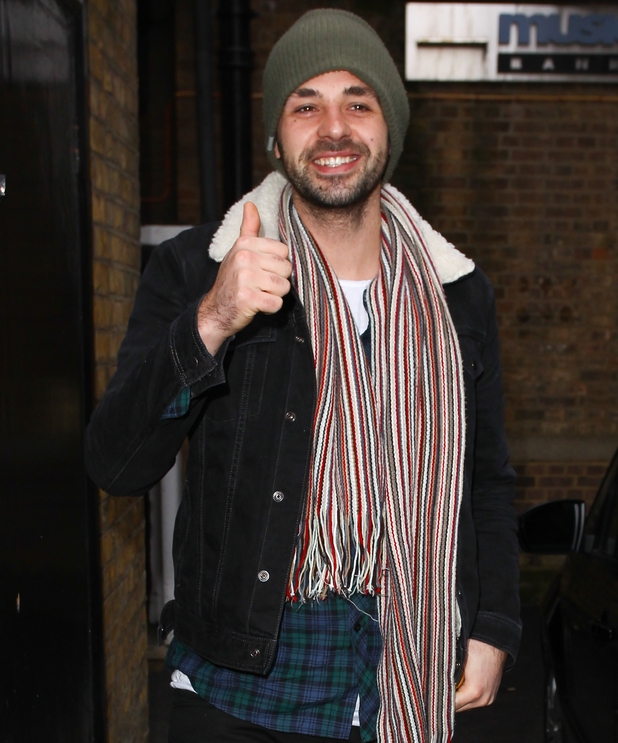 Ben Haenow outside of X Factor tour rehearsals 4 February