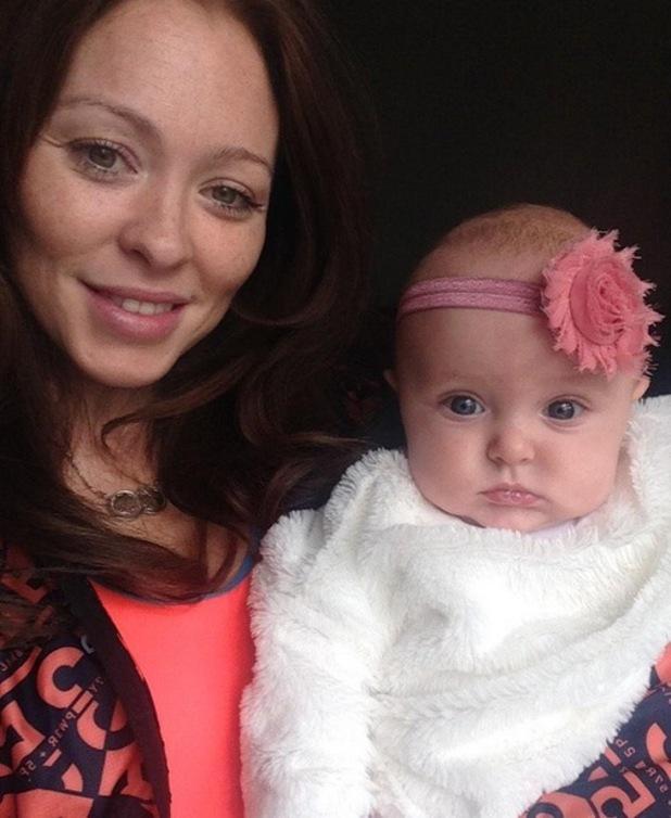 Natasha Hamilton and daughter Ella Rose 2 February
