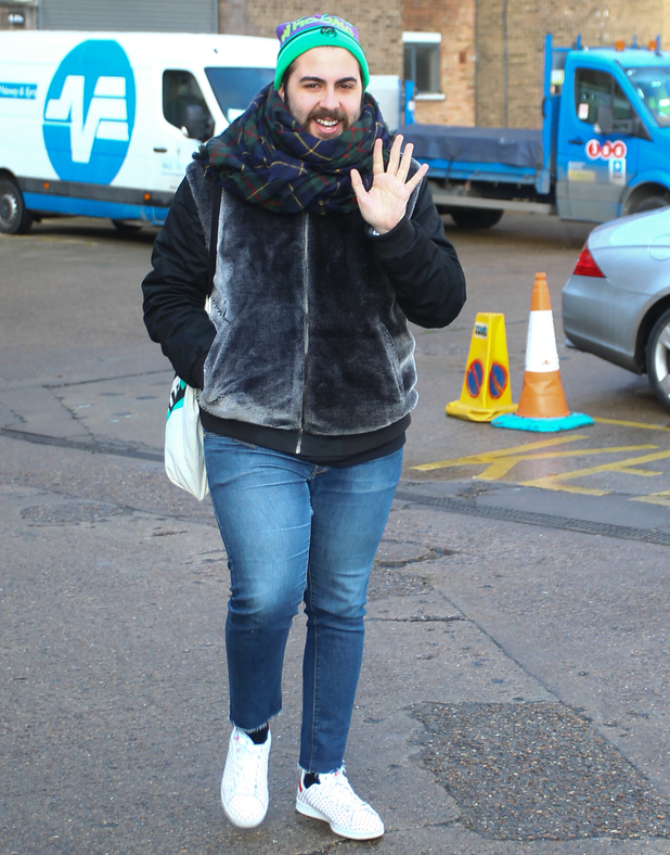 Andrea Faustini outside tour rehearsals for the X Factor Live Tour 4 February