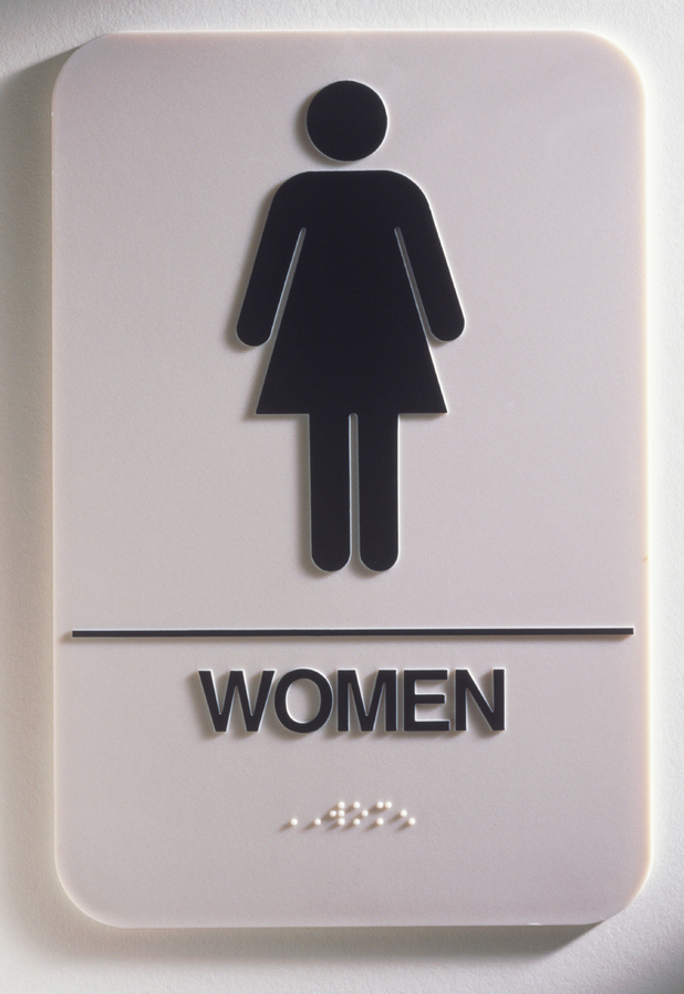 Ladies' toilet sign
