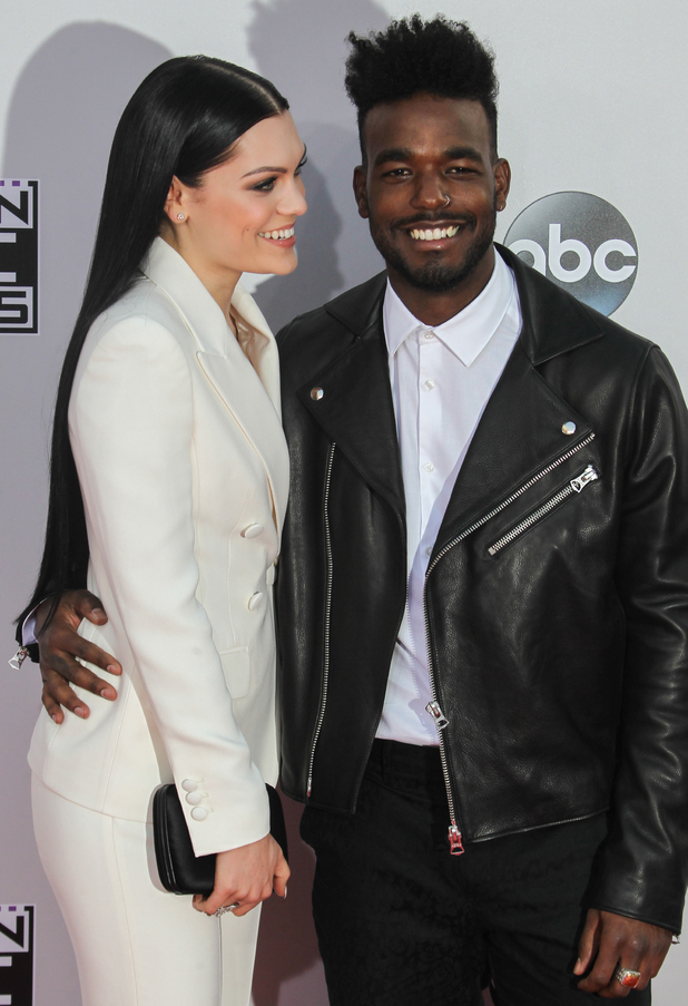 Jessie J and Luke James make red carpet debut at the 2014 American Music Awards at Nokia Theatre L.A. Live - Red Carpet Arrivals. 11/23/2014.