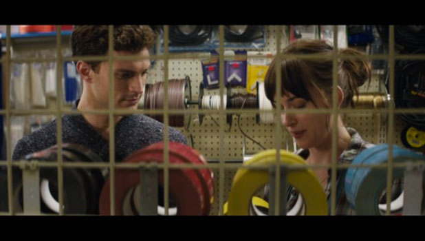 Fifty Shades of Grey: Ana and Christian in the hardware store in first full scene from movie, February 2015
