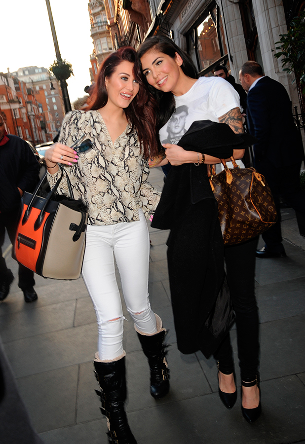 Celebrity Big Brother Stars Cami Li, Chloe Goodman and Patsy Kensit leave Scotts, 5 February 2015