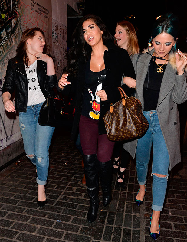 Cami Li out and about, London, Britain - 04 Feb 2015