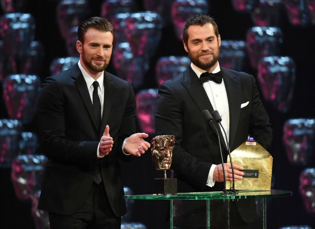 EE BAFTA British Academy Film Awards, Show, Royal Opera House, London, Britain - 08 Feb 2015 Chris Evans and Henry Cavill