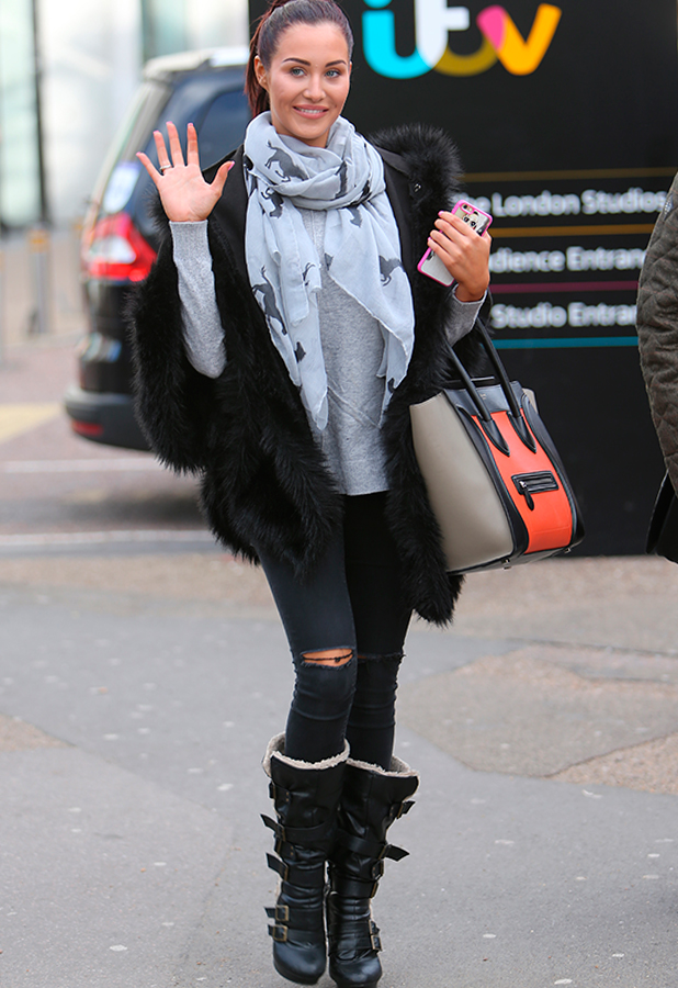 Chloe Goodman outside ITV Studios, 6 February 2015