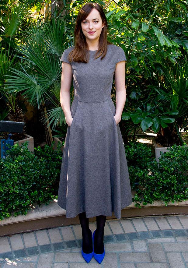 Dakota Johnson, 'Fifty Shades of Grey' film photocall, Los Angeles, America - 31 Jan 2015
