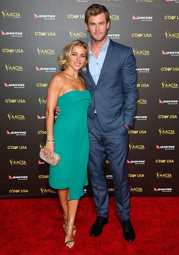 Elsa Pataky and Chris Hemsworth, 2015 G'DAY USA Gala featuring the AACTA International Awards presented by Qantas, 1 February 2015