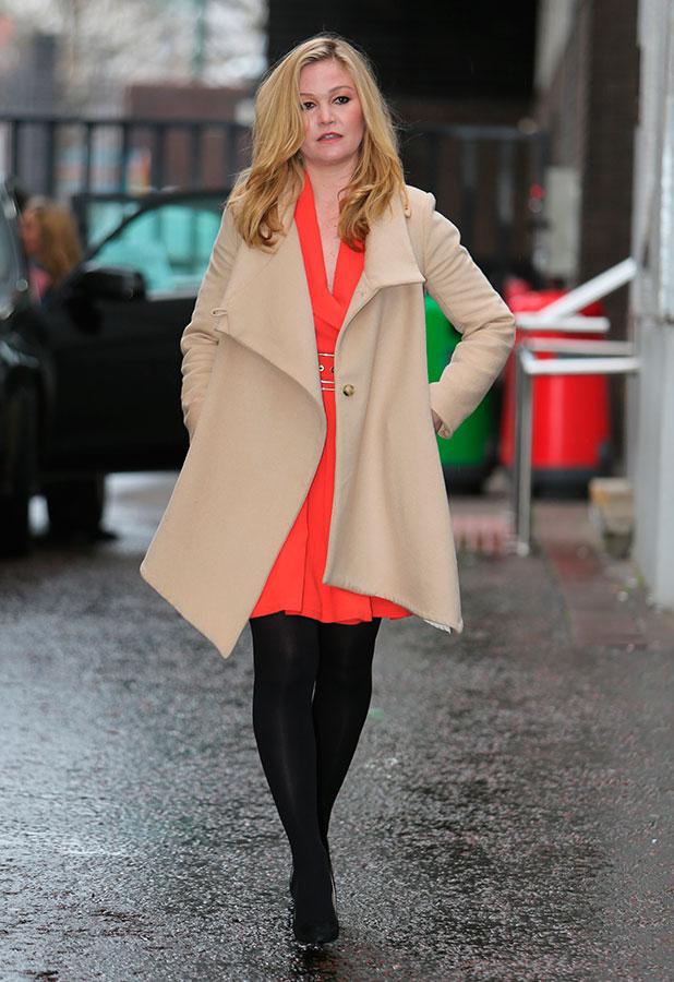 Julia Stiles outside the ITV Studios, 5 February 2015