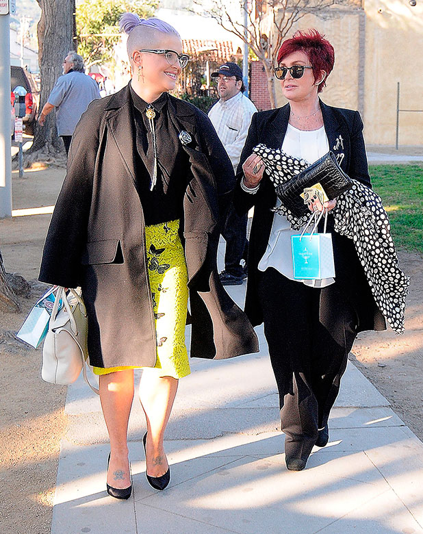Sharon Osbourne and Kelly Osbourne spend some quality time together picking up treats at Sugarfina on January 31, 2015 in Los Angeles, California.