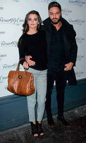 Mario Falcone and Emma McVey in Essex as Ferne McCann launches her blog 'Fashionable Foodie' at Charlies Deli in Brentwood, 5 February 2015