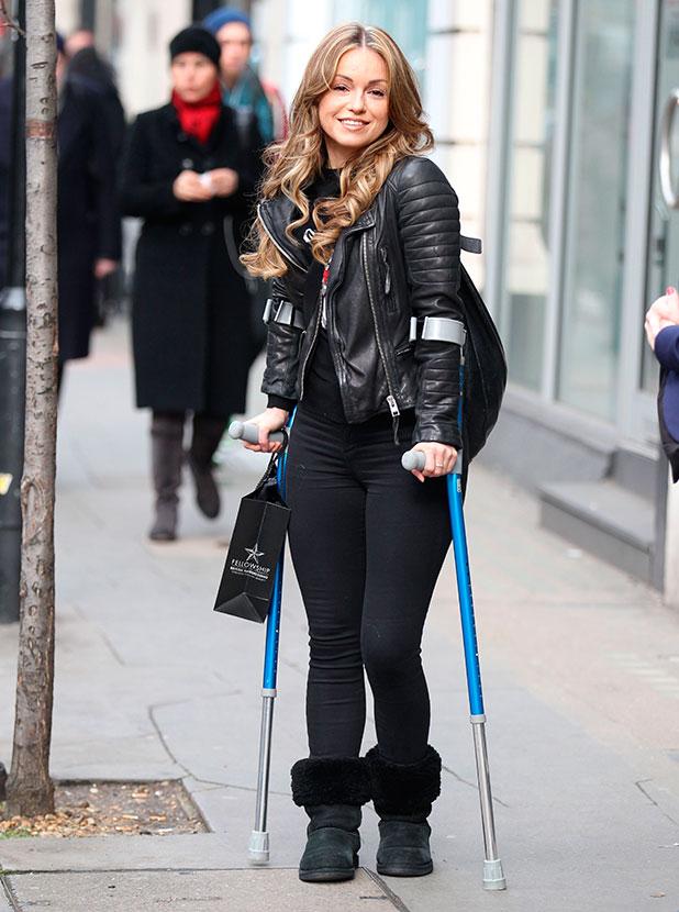 Ola Jordan at a Hairdressers in London, Britain - 04 Feb 2015