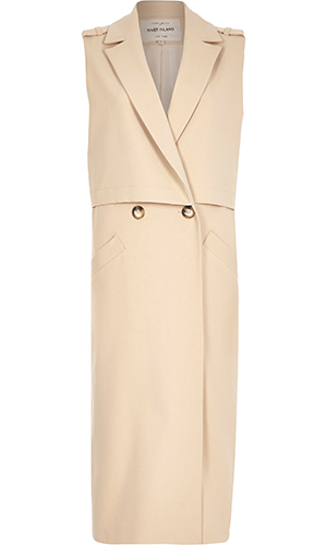 River Island sleeveless coat