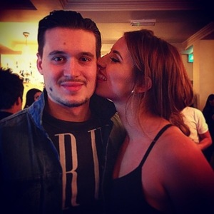 Charlie tweets photo of girlfriend Ferne McCann while she's away in Tenerife - 9 February 2015.