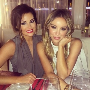 Lauren Pope and Jessica Wright have dinner in Tenerife 10 February
