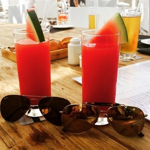 Rochelle Humes posts photos of cocktails on holiday in Dubai 11 February