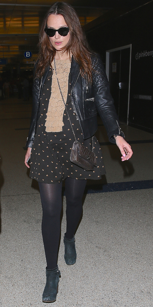 Keira Knightley arrives at LAX airport, LA 11 February