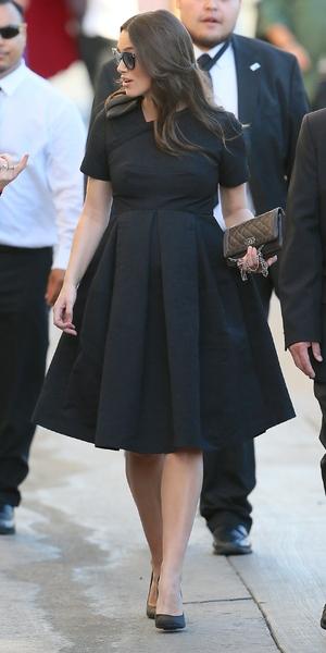 Keira Knightley ahead of Jimmy Kimmel appearance, LA 12 February