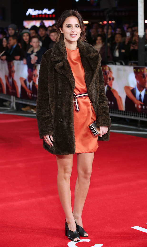 Lucy Watson wraps up at Focus premiere last night (11th February)