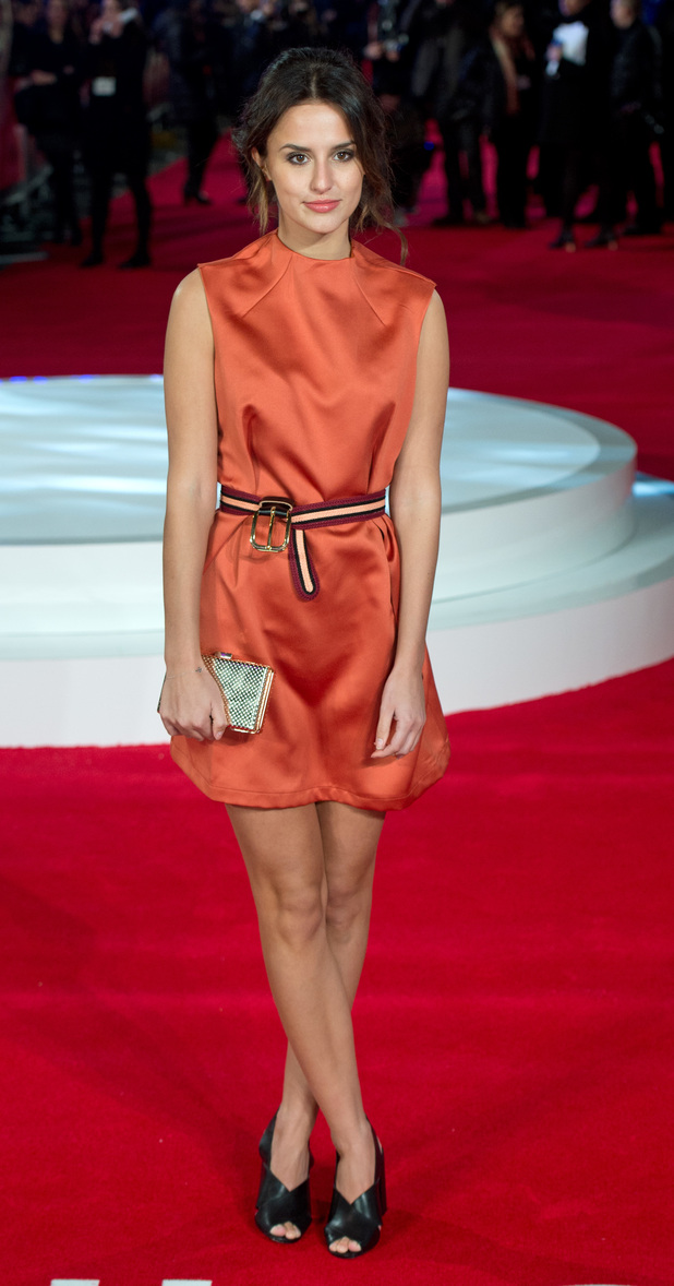 Lucy Watson shows off her toned pins at Focus premiere last night (11th February)