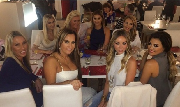 TOWIE girls at dinner in Tenerife 10 February