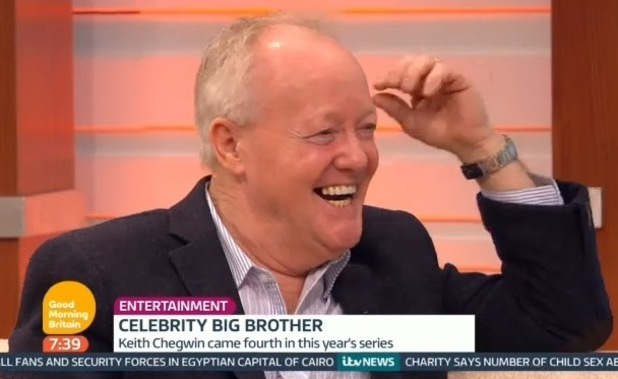 Keith Chegwin appears on Good Morning Britain - 9 February 2015