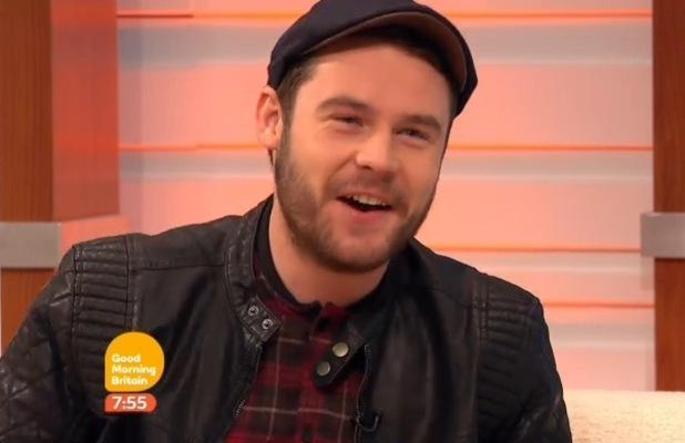 Danny Miller appears on Good Morning Britain - 9 Feb 2015