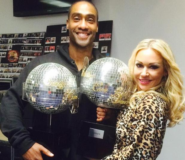Simon Webbe and Kristina Rihanoff win the overall Strictly Come Dancing live tour - 8 February 2015.